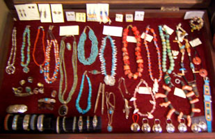 Jewelry taos, Tony Whitecrow, deerskin, leather, bedding, clothing, jackets, western, custom