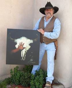 Tony Whitecrow withTouching the Past taos, Tony Whitecrow, deerskin, leather, bedding, clothing, jackets, western, custom