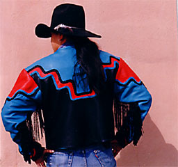 taos, Tony Whitecrow, deerskin, leather, bedding, clothing, jackets, western, custom
