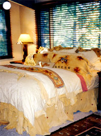Bed taos, Tony Whitecrow, deerskin, leather, bedding, clothing, jackets, western, custom